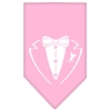 Mirage Pet Products Tuxedo Screen Print Bandana Light Pink Large