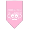 Mirage Pet Products Up to No Good Screen Print Bandana Light Pink Small