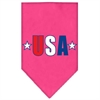 Mirage Pet Products USA Star Screen Print Bandana Bright Pink Large