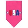 Mirage Pet Products USA Star Screen Print Bandana Bright Pink Small