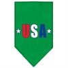 Mirage Pet Products USA Star Screen Print Bandana Emerald Green Large