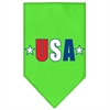 Mirage Pet Products USA Star Screen Print Bandana Lime Green Small