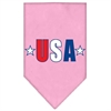 Mirage Pet Products USA Star Screen Print Bandana Light Pink Large