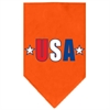 Mirage Pet Products USA Star Screen Print Bandana Orange Large
