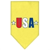 Mirage Pet Products USA Star Screen Print Bandana Yellow Small