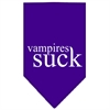 Mirage Pet Products Vampires Suck Screen Print Bandana Purple Small