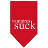 Mirage Pet Products Vampires Suck Screen Print Bandana Red Large