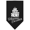Mirage Pet Products Wedding Crasher Screen Print Bandana Black Large