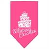 Mirage Pet Products Wedding Crasher Screen Print Bandana Bright Pink Large