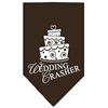 Mirage Pet Products Wedding Crasher Screen Print Bandana Cocoa Small
