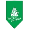Mirage Pet Products Wedding Crasher Screen Print Bandana Emerald Green Large