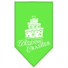 Mirage Pet Products Wedding Crasher Screen Print Bandana Lime Green Small