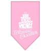 Mirage Pet Products Wedding Crasher Screen Print Bandana Light Pink Large
