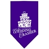 Mirage Pet Products Wedding Crasher Screen Print Bandana Purple Large