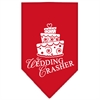 Mirage Pet Products Wedding Crasher Screen Print Bandana Red Small