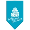 Mirage Pet Products Wedding Crasher Screen Print Bandana Turquoise Large