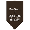 Mirage Pet Products Went with Naughty Screen Print Bandana Cocoa Large