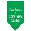 Mirage Pet Products Went with Naughty Screen Print Bandana Emerald Green Large