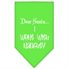 Mirage Pet Products Went with Naughty Screen Print Bandana Lime Green Large