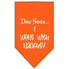 Mirage Pet Products Went with Naughty Screen Print Bandana Orange Large
