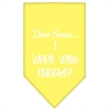 Mirage Pet Products Went with Naughty Screen Print Bandana Yellow Large