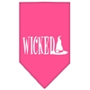 Mirage Pet Products Wicked Screen Print Bandana Bright Pink Large