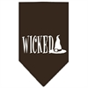 Mirage Pet Products Wicked Screen Print Bandana Cocoa Large