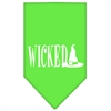 Mirage Pet Products Wicked Screen Print Bandana Lime Green Small