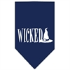Mirage Pet Products Wicked Screen Print Bandana Navy Blue large