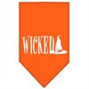 Mirage Pet Products Wicked Screen Print Bandana Orange Large