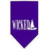 Mirage Pet Products Wicked Screen Print Bandana Purple Large