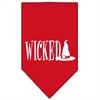 Mirage Pet Products Wicked Screen Print Bandana Red Small