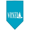 Mirage Pet Products Wicked Screen Print Bandana Turquoise Small