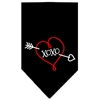 Mirage Pet Products XOXO Screen Print Bandana Black Large