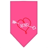 Mirage Pet Products XOXO Screen Print Bandana Bright Pink Large