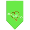 Mirage Pet Products XOXO Screen Print Bandana Lime Green Small