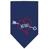 Mirage Pet Products XOXO Screen Print Bandana Navy Blue large
