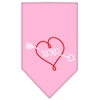 Mirage Pet Products XOXO Screen Print Bandana Light Pink Small