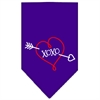 Mirage Pet Products XOXO Screen Print Bandana Purple Small