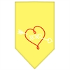 Mirage Pet Products XOXO Screen Print Bandana Yellow Small