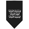 Mirage Pet Products You Come, You Sit, You Stay Screen Print Bandana Black Large