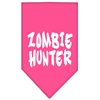Mirage Pet Products Zombie Hunter Screen Print Bandana Bright Pink Large