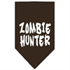 Mirage Pet Products Zombie Hunter Screen Print Bandana Cocoa Large