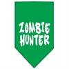 Mirage Pet Products Zombie Hunter Screen Print Bandana Emerald Green Large