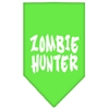 Mirage Pet Products Zombie Hunter Screen Print Bandana Lime Green Small
