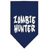 Mirage Pet Products Zombie Hunter Screen Print Bandana Navy Blue large