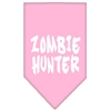 Mirage Pet Products Zombie Hunter Screen Print Bandana Light Pink Large