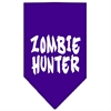 Mirage Pet Products Zombie Hunter Screen Print Bandana Purple Large