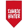 Mirage Pet Products Zombie Hunter Screen Print Bandana Red Large