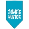 Mirage Pet Products Zombie Hunter Screen Print Bandana Turquoise Small
